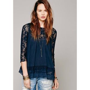 Free People Golden Age Blouse XS